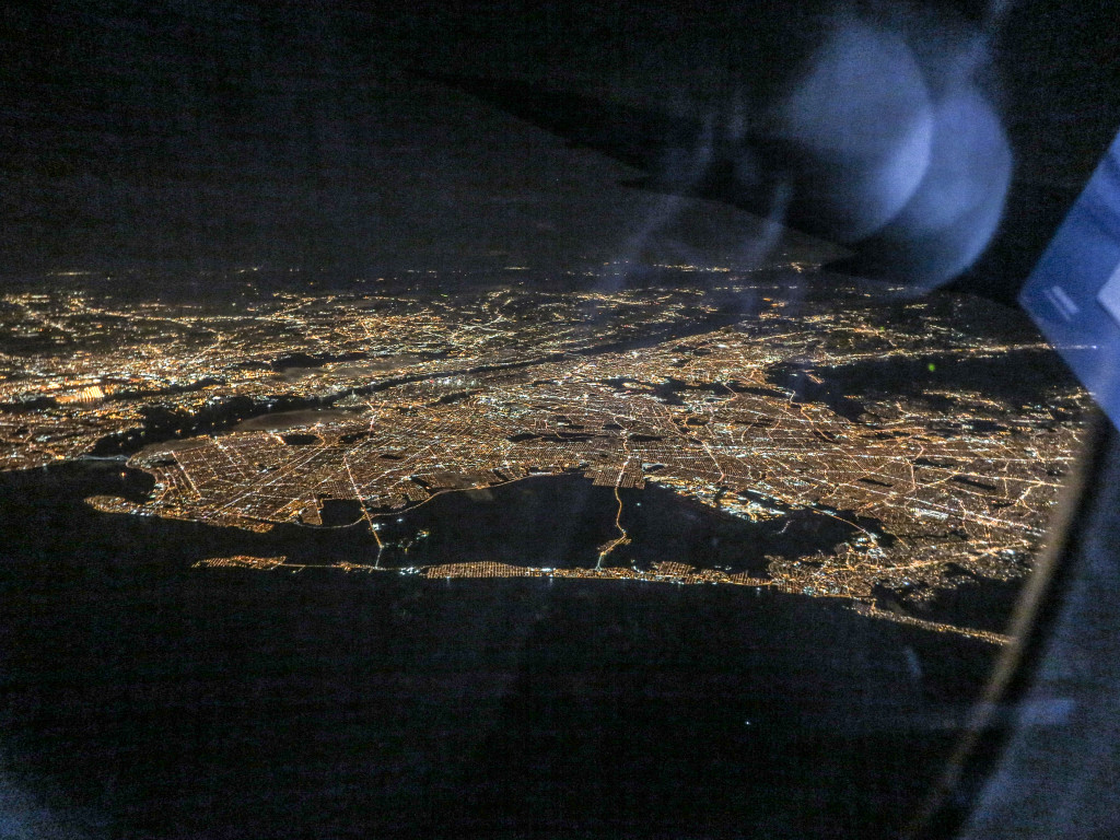 Overhead Photo of NYC at night