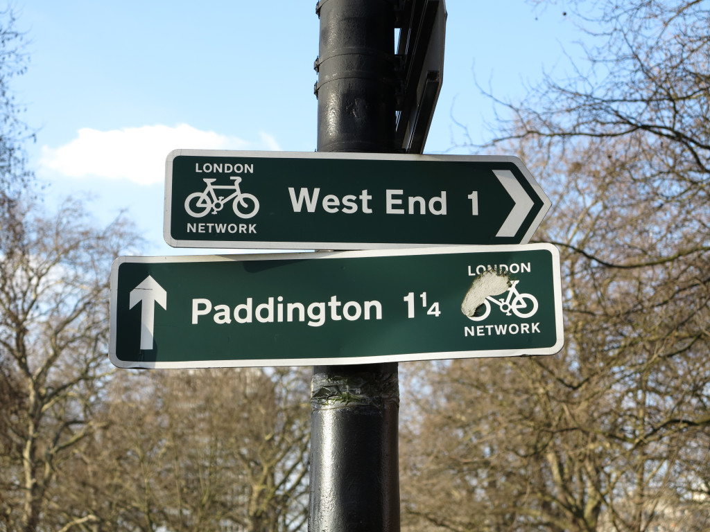 West End and Paddington Sign