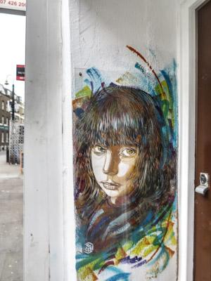 C215 Street Art Piece East London. Little Girl