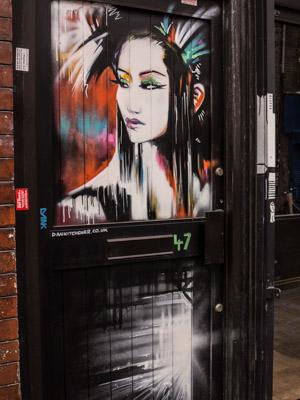 Dan Kitchner Geisha Street Art. Brick Lane East London