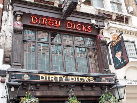 Dirty Dicks Pub London, England