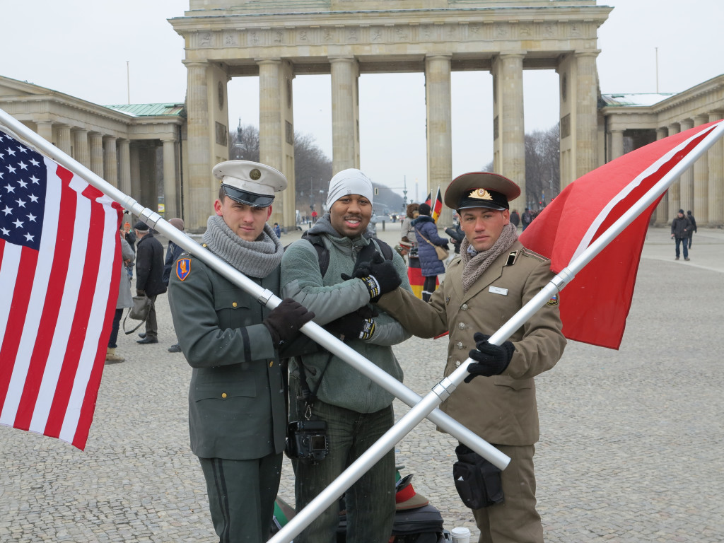 Me and the Allies at Brandenburg Gate. Berlin, Germany