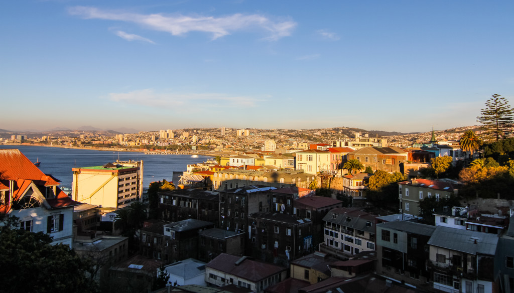 Palacio Astoreca,Valparaiso Chile. City and Bay View