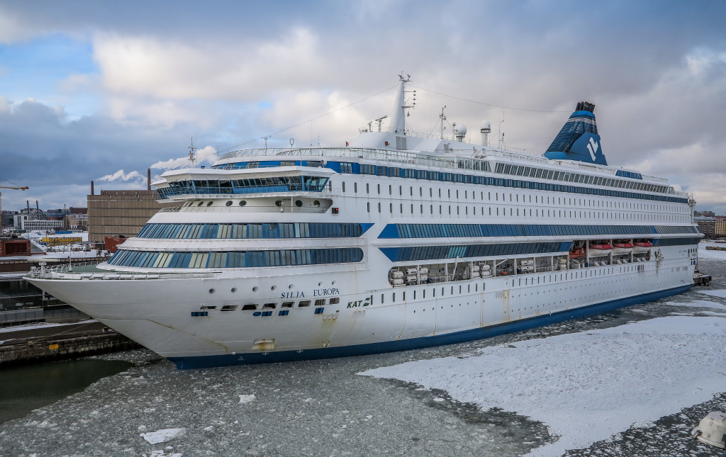 Cruise ship docked in Helsinki