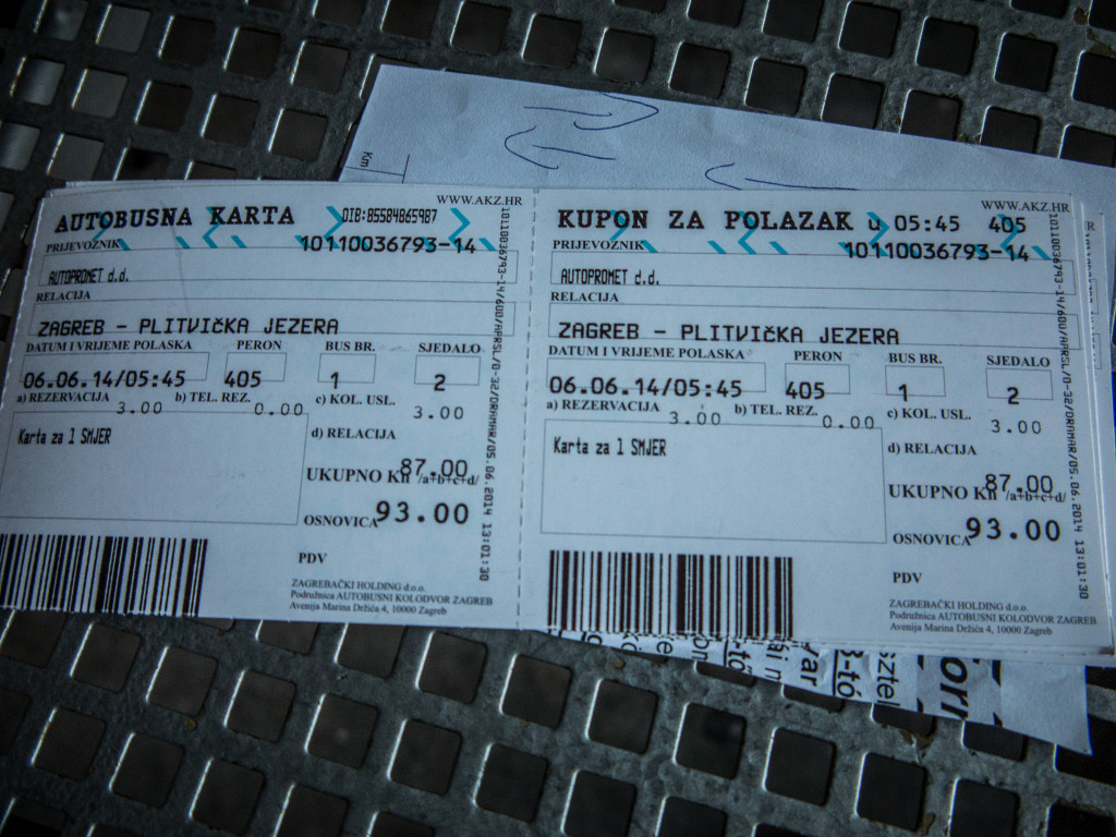 Bus Ticket Zagreb to Plitvice or Plitvicka Lakes National Park