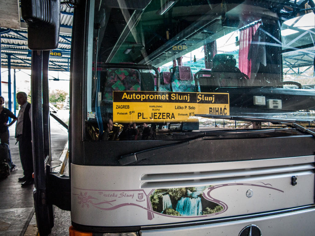 Bus from Zagreb to Plitvice Lakes National Park