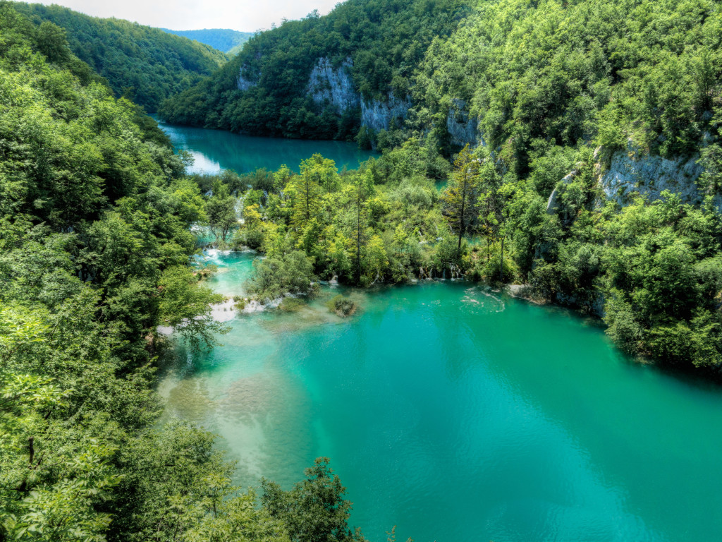 Double Lake at Plitvice Lakes National Park Croatia