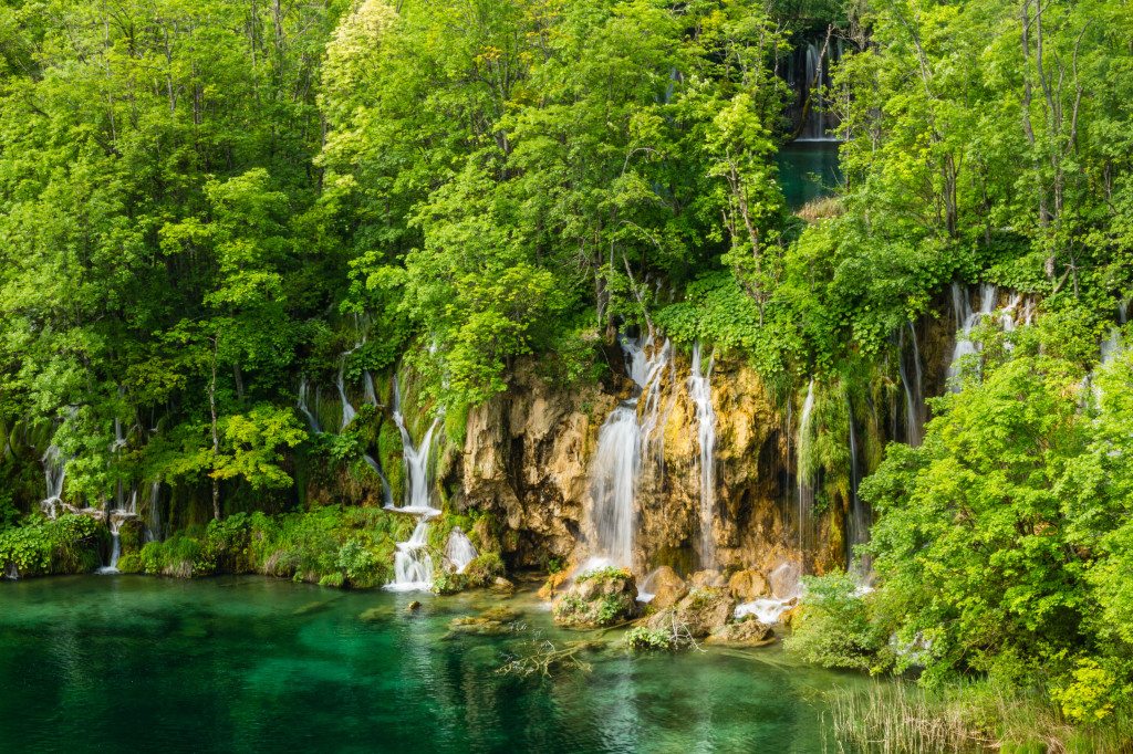 Falls at Plitvice Lakes National Park Croatia