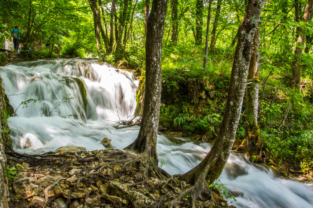 Milanovacki Slap in Plitvice Lakes National Park Croatia