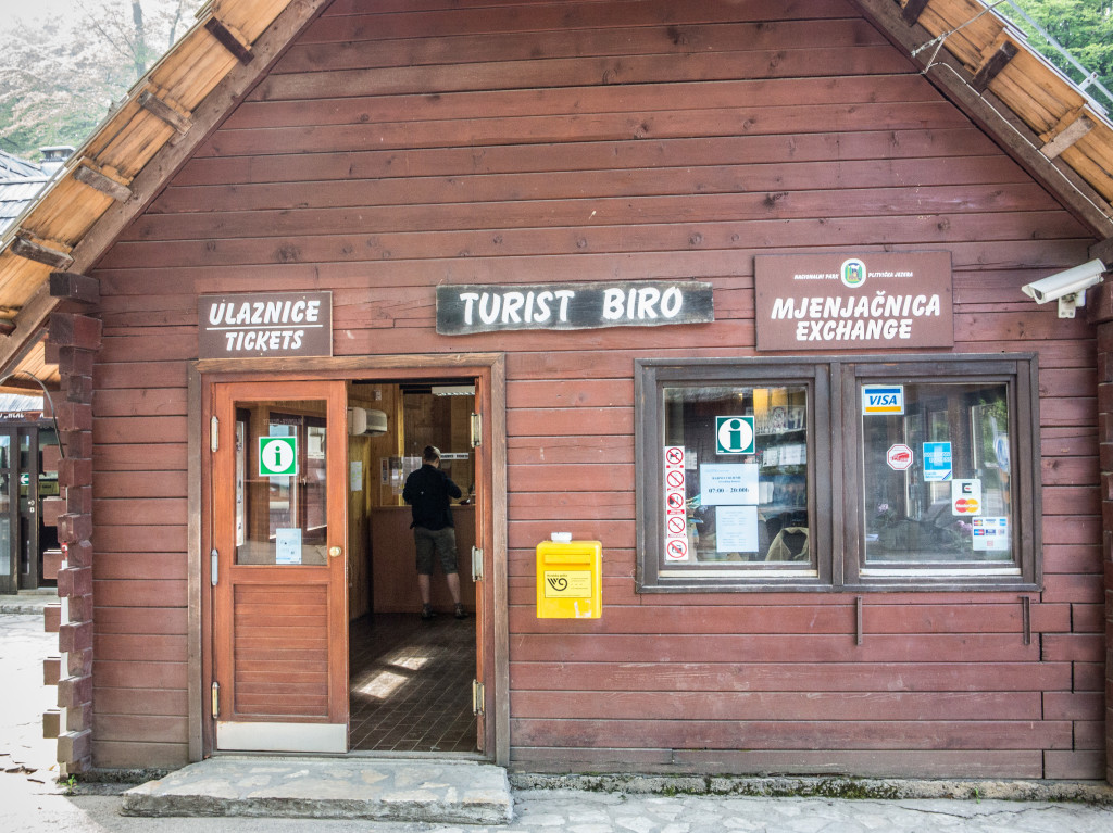 Ticket and Information Building at Plitvice National Park