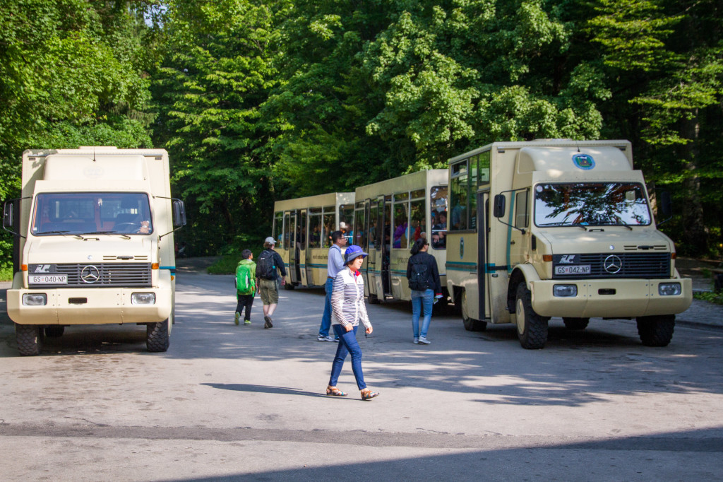 Transport vans at Plitvice Lakes National Park Croatia
