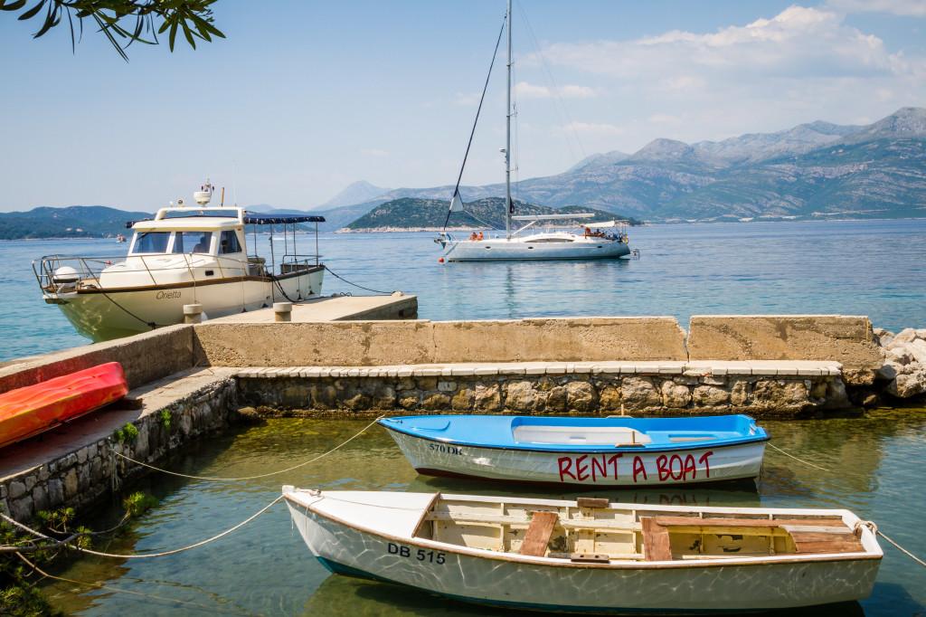 Boat rentals on Lopud Island