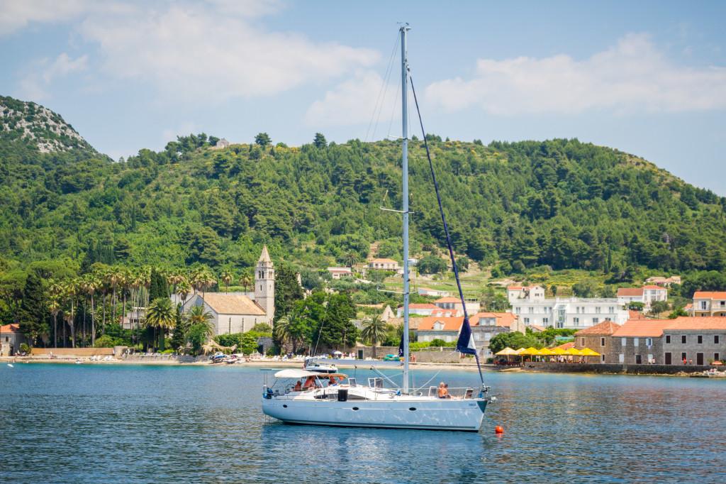 Sail boat near Kolocep Croatia