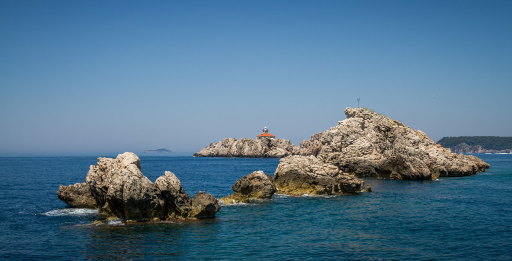 Sveti Andrija (Dubrovnik) island and lighthouse off the coast of Dubrovnik