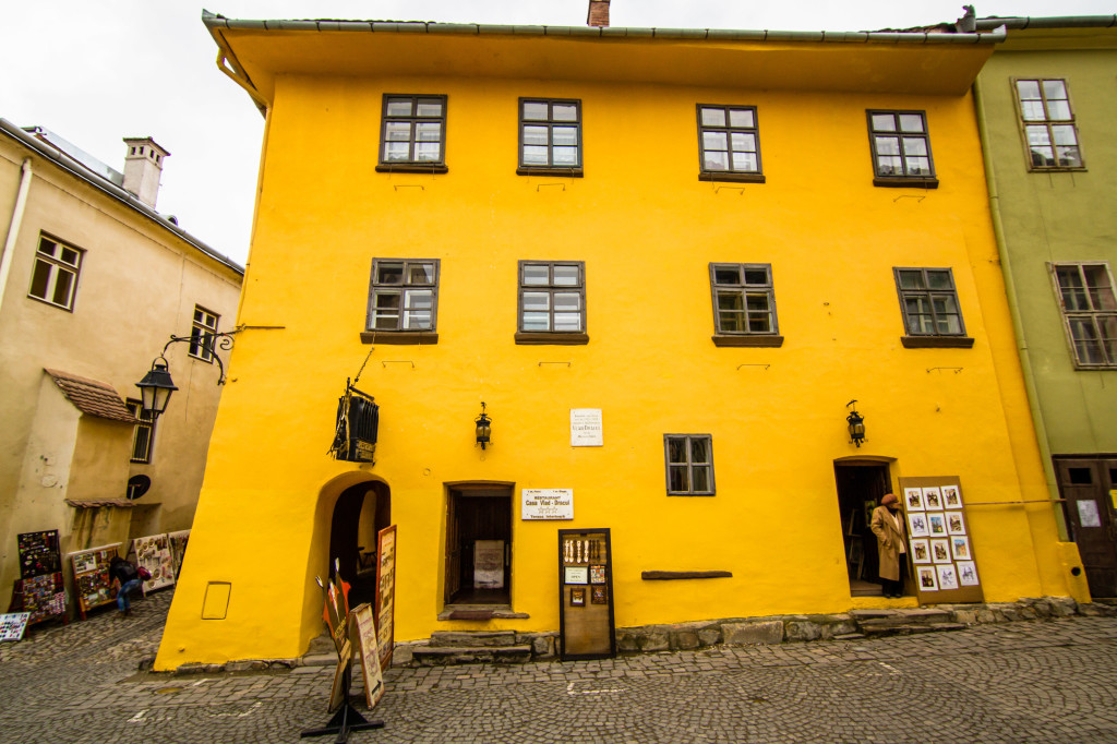 Vlad Draculs House (Dracula) in Sighisoara, Romania