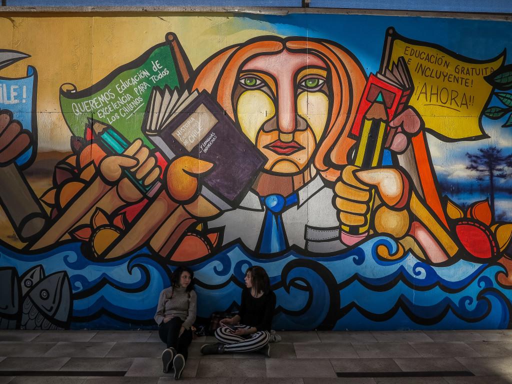 Brigada Ramona Parra (BRP) mural in Santiago Chile