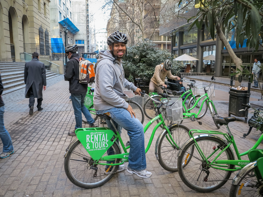 Me with La Bicycleta Verde Santiago Chile