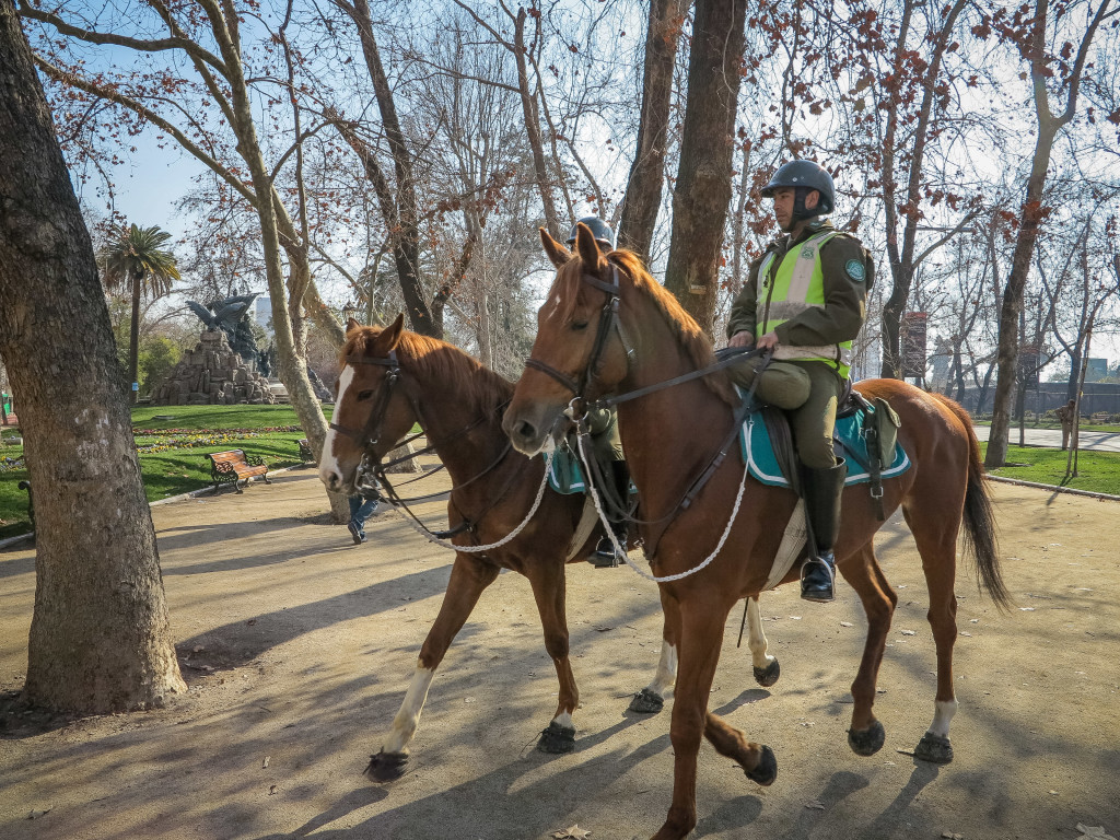 Mounted Police (Caballeros) in Santiago Chile