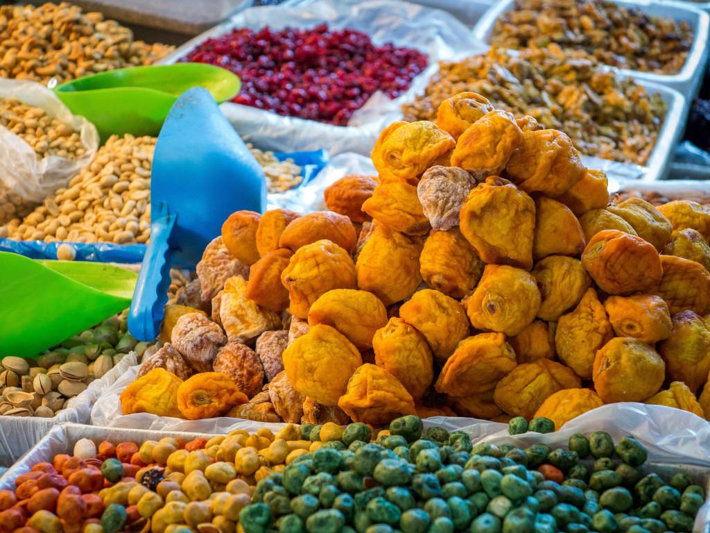Nuts in La Vega Market. Santiago Chile