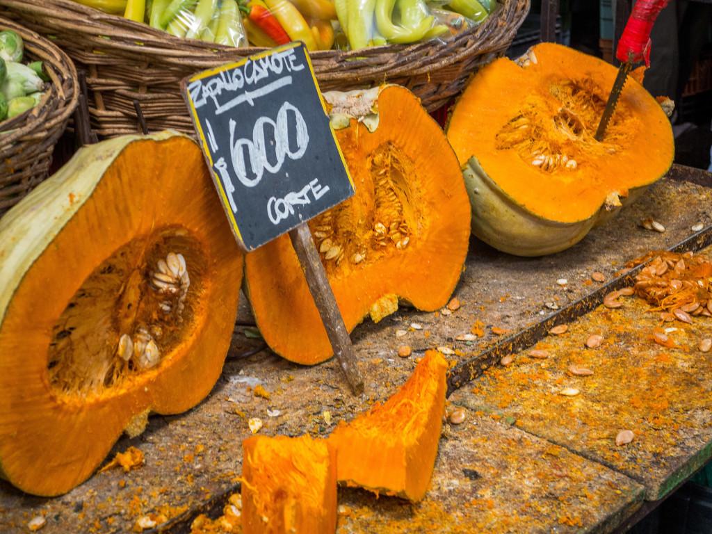 Pumpkin at La Vega Market in Santiago Chile