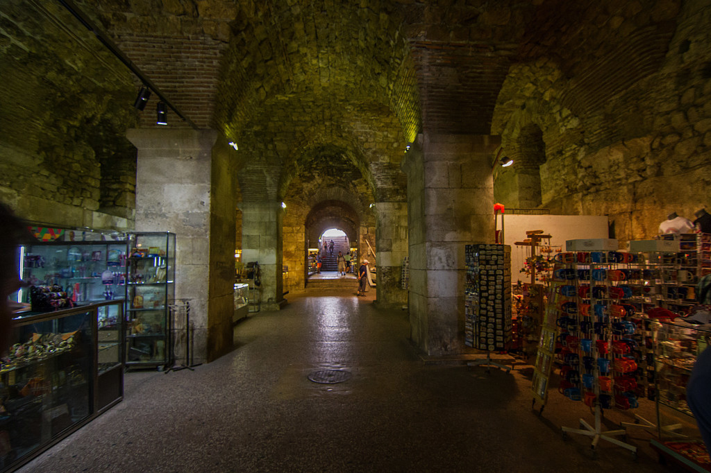 Shopping Hall under Diocletians Palace in Split, Croatia