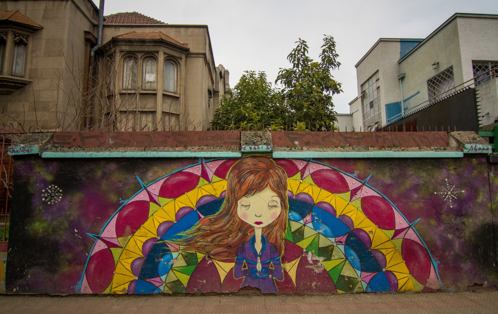 Street Art Mural in Bella Vista Santiago Chile