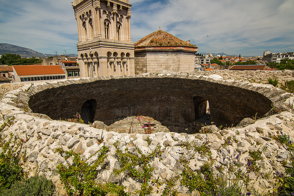 Vestibule and Cathedral of Saint Domnius from above Split, Croatia