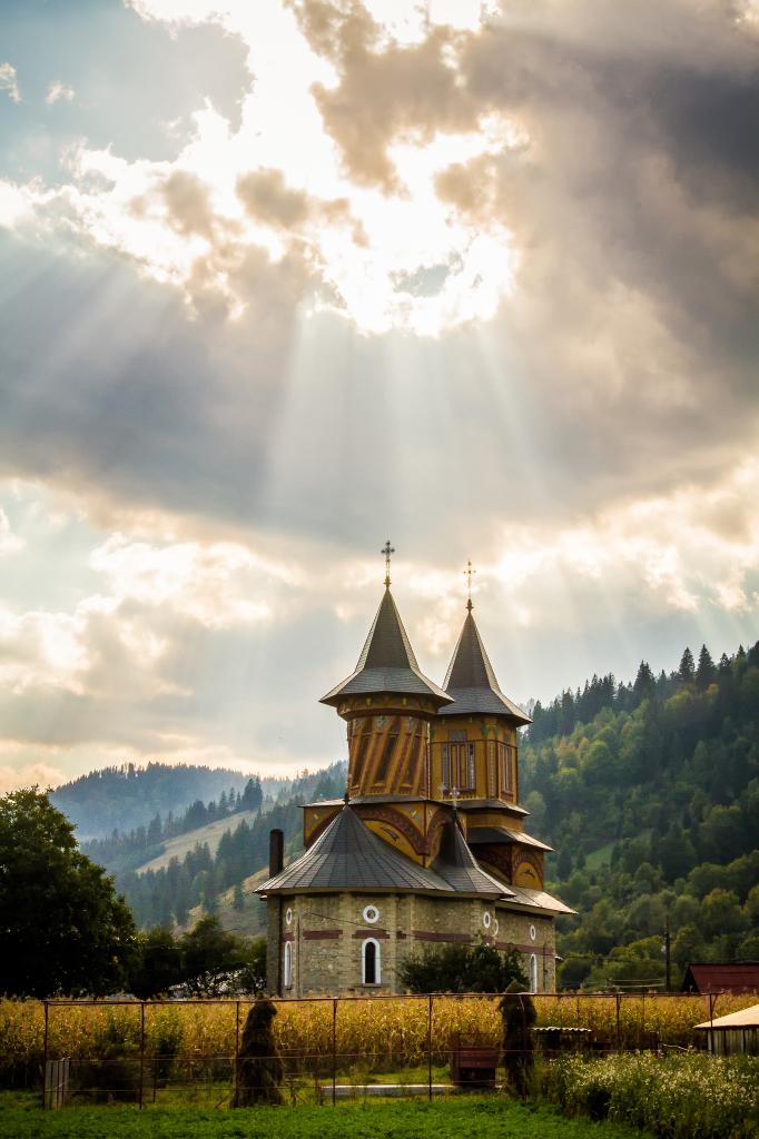 Church near Bicaz Lake in Romania
