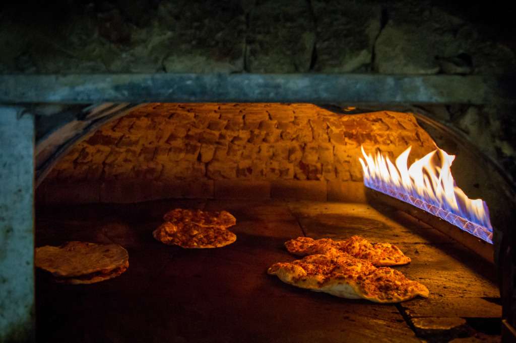Lahmacun and Pide in stone oven