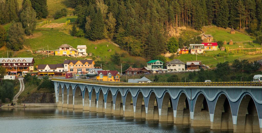 Poiana Largului viaduct in Neamt Romania