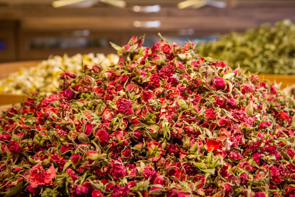 Rose Turkish Tea mix in Istanbul Turkey