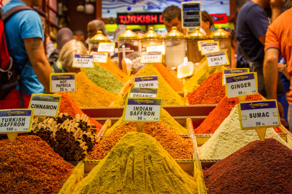 Turkish Spices at the Istanbul Spice Bazaar