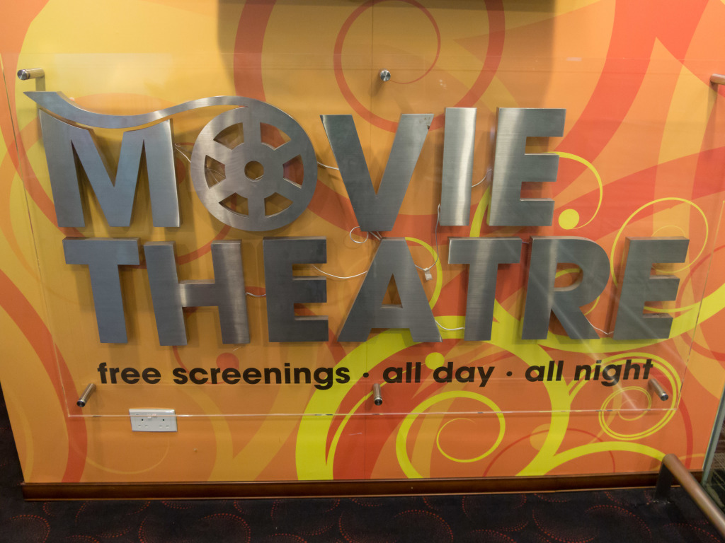 Free movie theatre at Changi Airport Singapore
