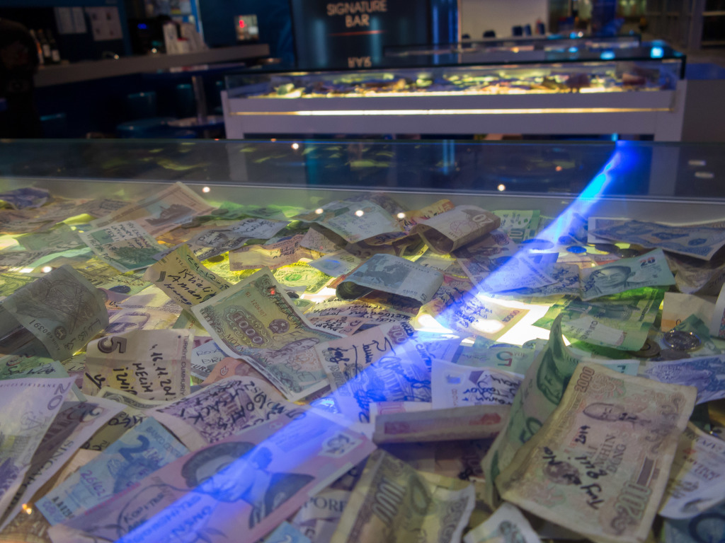 International money at Changi Airport Singapore