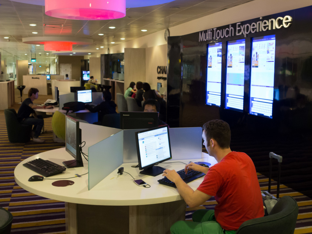Plenty of free internet access at Changi Airport Singapore