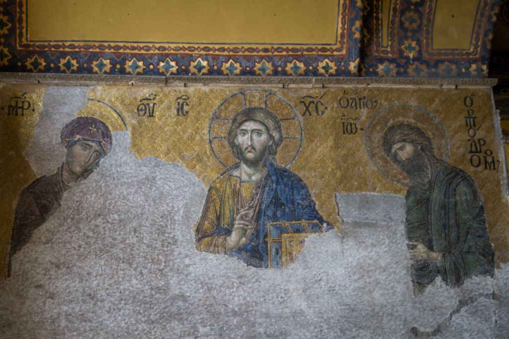 The Christ Deesis Mosaic in Hagia Sofia