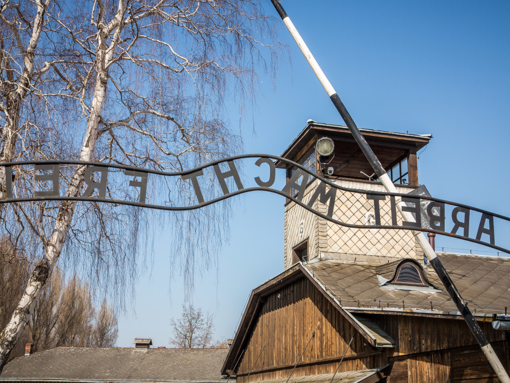 Arbeit macht frei (Work makes you free) Auschwitz Entrance