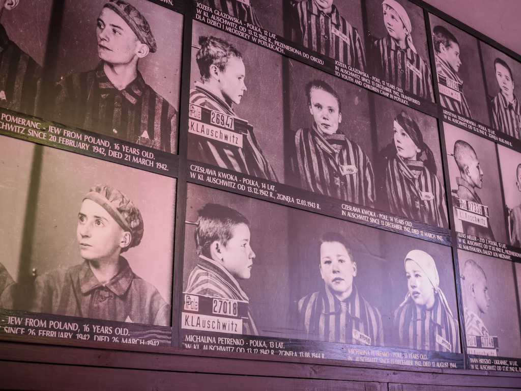 Auschwitz-Birkenau children prisoner cards