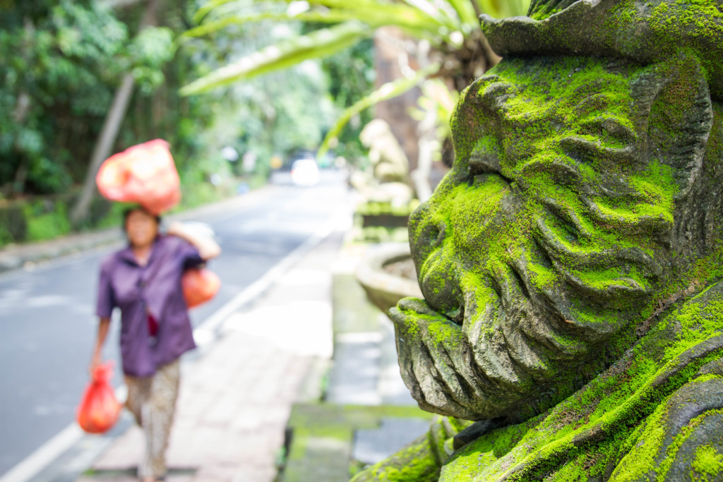 Monkey Statue in Ubud Indonesia