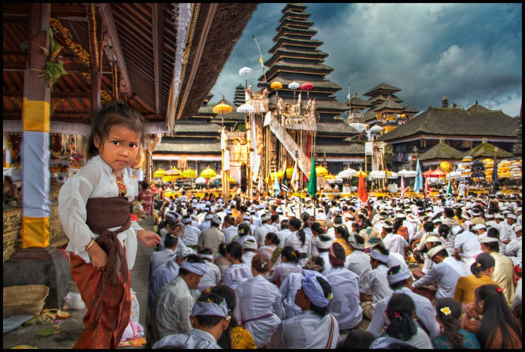Pura Basakih Temple Celebration.  Mount Agung, Bali, Indonesia