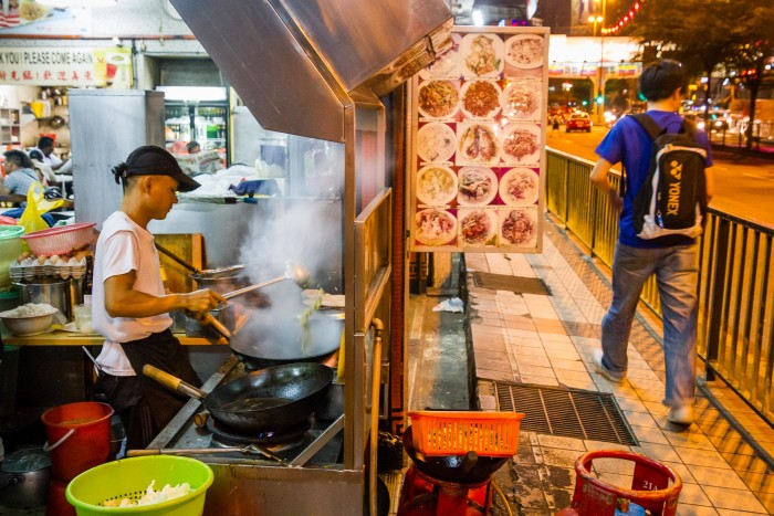 Street view of Lai Foong Restaurant in Kuala Lumpur
