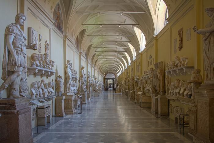 Chiaramonti Museum hall leading to Braccio Nuovo in the Vatican Museum