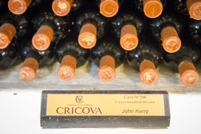 Cricova Vineyard John Kerry collection