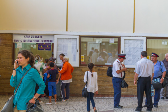 International Ticket counter at Timisoara Train Station