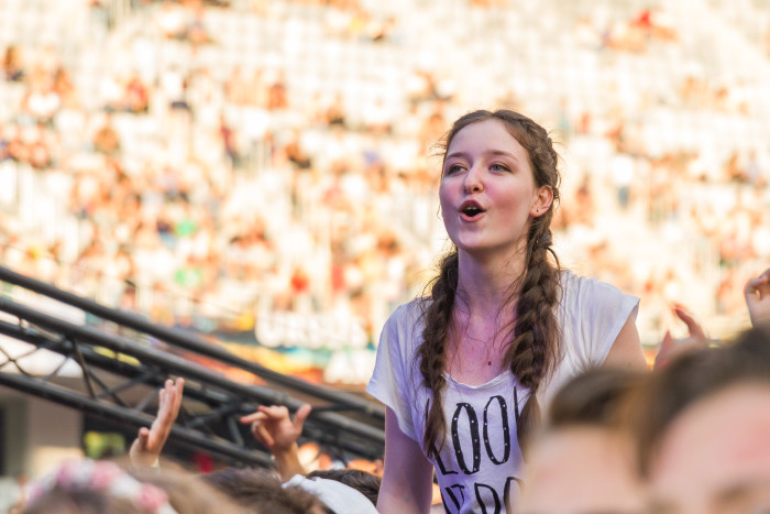 Female fan at Untold Festival