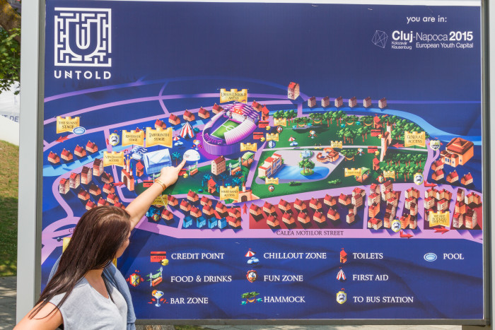 Map of Untold Festival Grounds