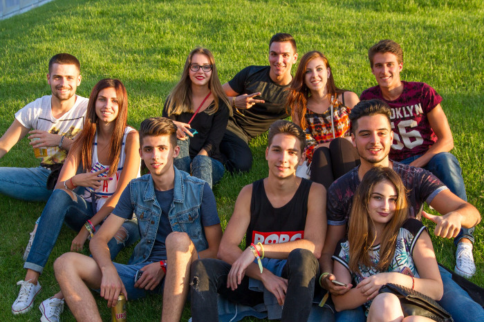 Students at Untold Festival