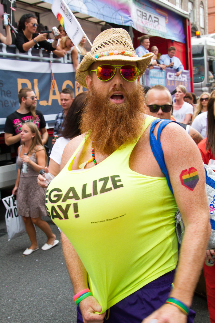 Beard and Boobs at Copenhagen Pride