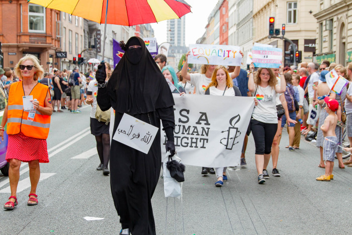 Burka at Copenhagen Pride
