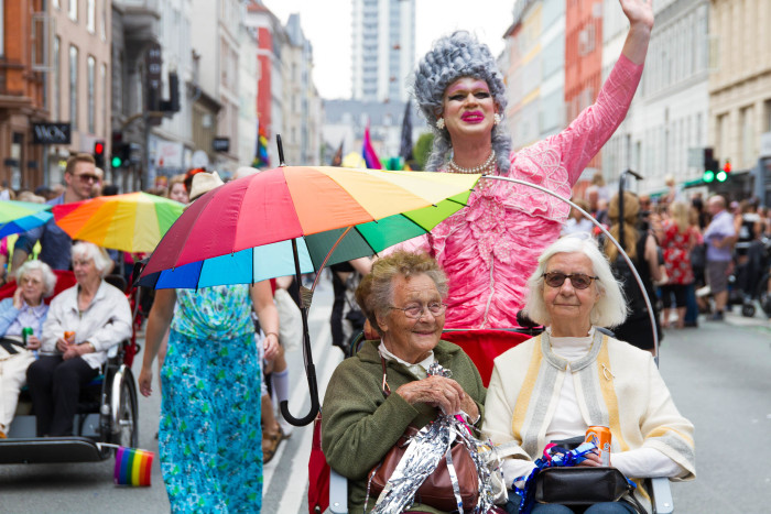 Drag Queen pedals Seniors at Copenhagen Pride